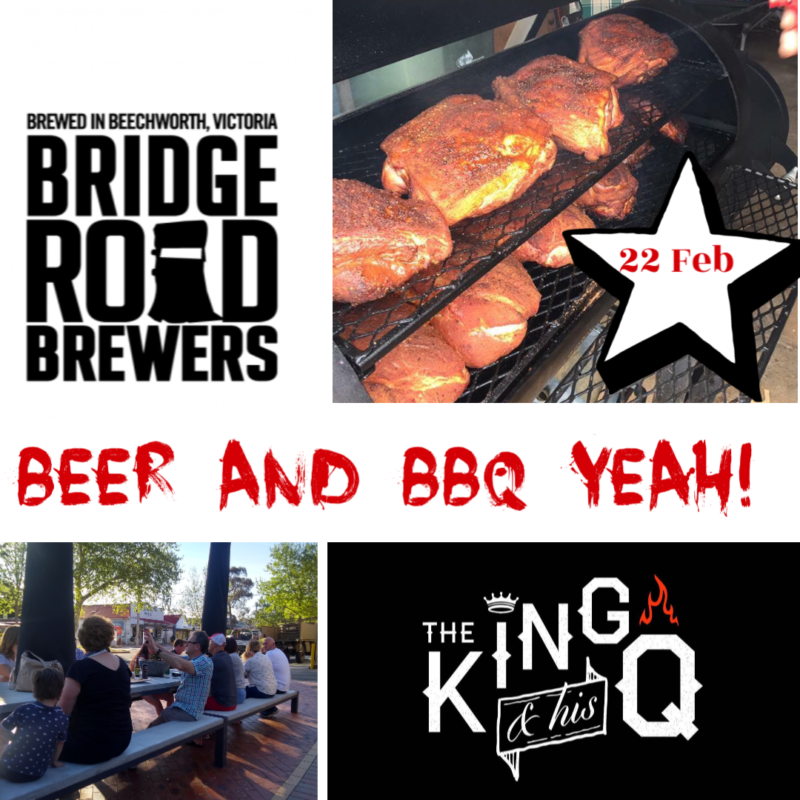 The King and his Q BBQ and Bridge Road Brewery! @ Hops and Vine