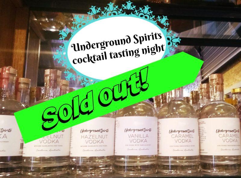 Underground Spirits Cocktail evening - 7 September @ Hops and Vine Hall