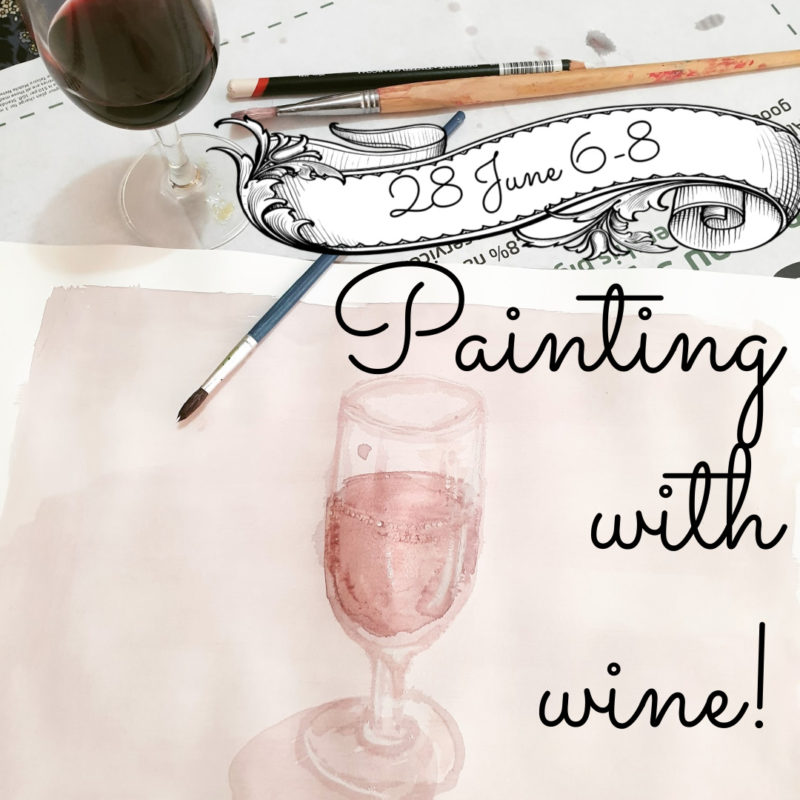 Painting with wine class with Mick Ashley - 8 June @ Hops and Vine Hall