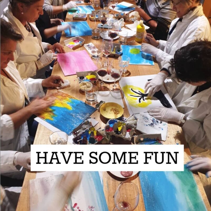 Fingerpainting and Winetasting | 6 May | $65 @ Hops and Vine Hall